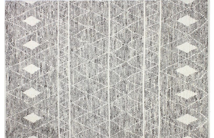 Elise Hand-Knotted Rug, Gray