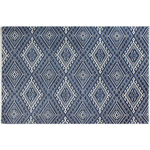 Georgina Hand-Knotted Rug, Navy