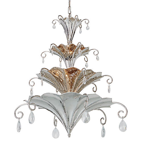 Chinoise Chandelier, Nickel
