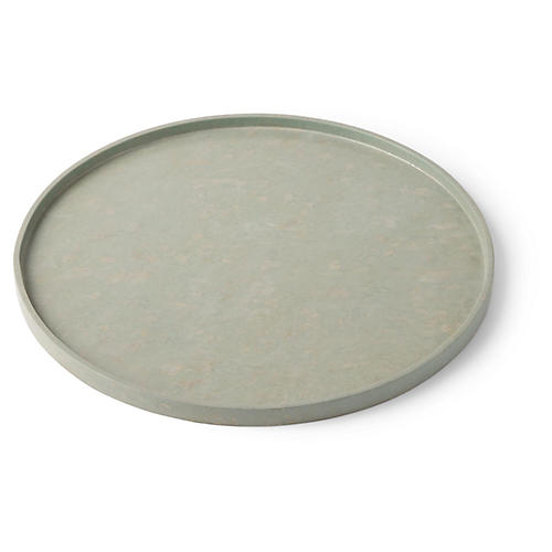 Full Moon Serving Tray, Mineral Green