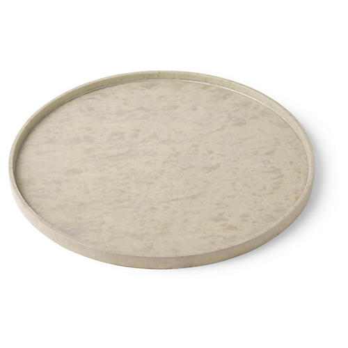 Full Moon Serving Tray, Pink Dust
