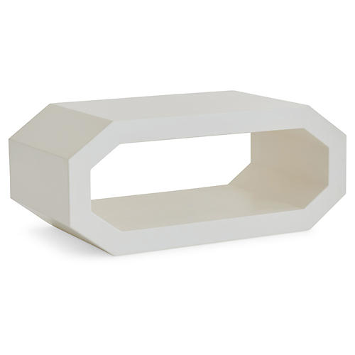 Cubist Coffee Table, Ivory