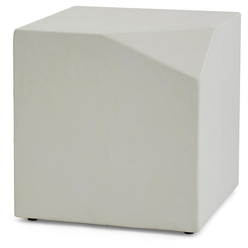 Facet Side Table, Ivory