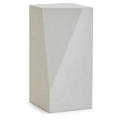 Facet Medium Plant Stand, Ivory