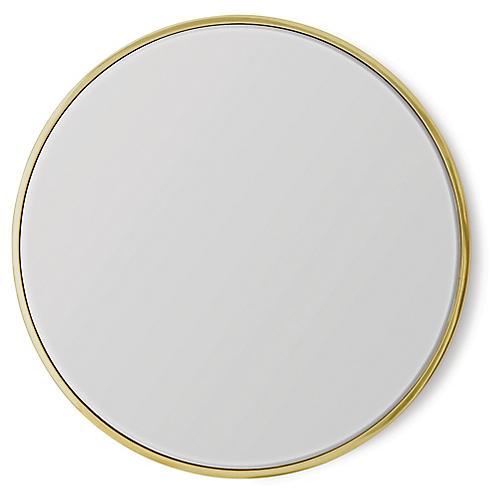 Hoop Convex Wall Mirror, Brass