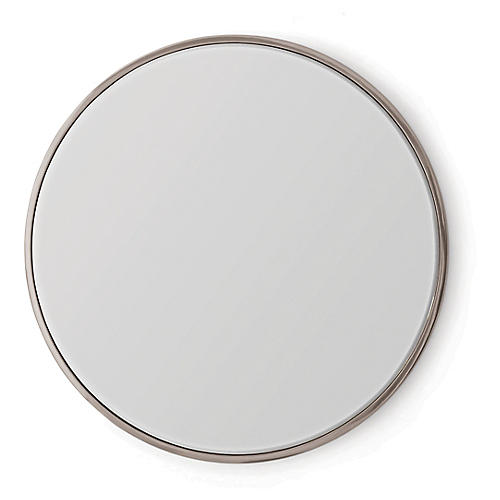 Hoop Convex Wall Mirror, Nickel