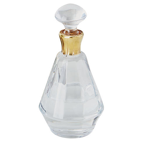 Prism Crystal Decanter, Gold