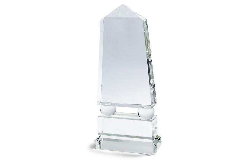 Crystal Wide Obelisk, Clear