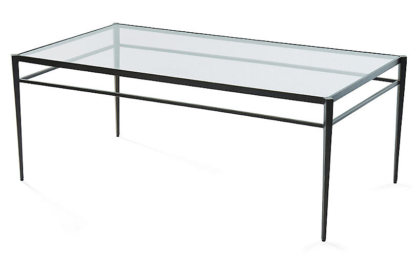 Lescot Coffee Table, Gunmetal