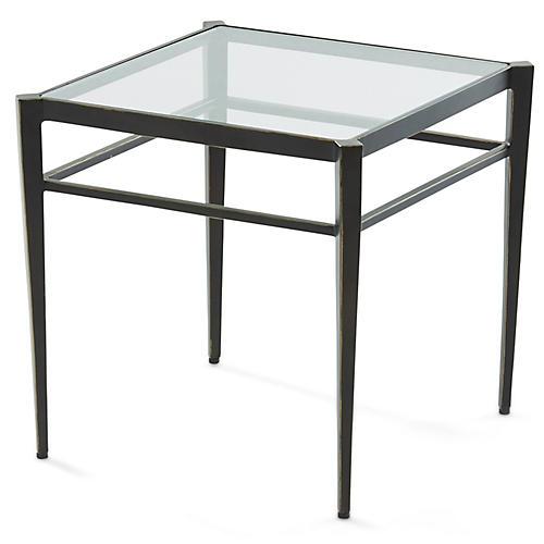 Lescot Small Side Table, Gunmetal