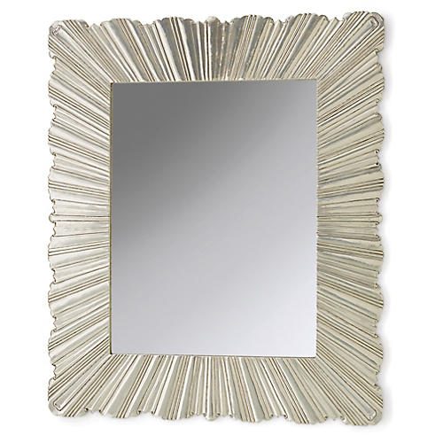Fold Oversize Wall Mirror, Silver