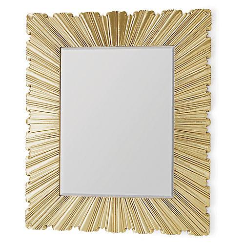 Fold Oversize Mirror, Brass