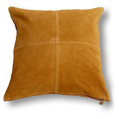 Aiden 20x20 Pillow, Tan Suede