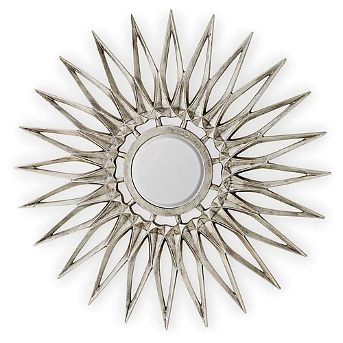 Dahlia Wall Mirror, Nickel