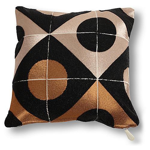 Marquee 20x20 Pillow, Bronze/Black