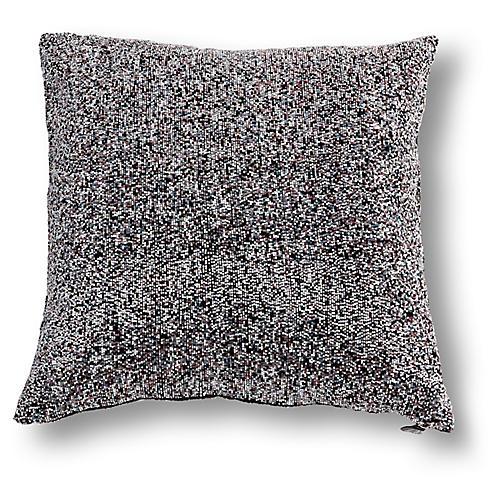 Casey 20x20 Pillow, Blue/Silver