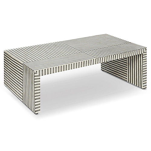 Felicity Coffee Table, Gray/Ivory