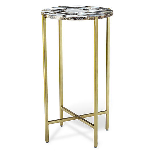 Leonie Small Side Table, Gray