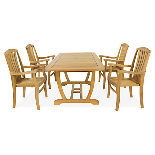 Pacifica 5-Pc Dining Set, Natural