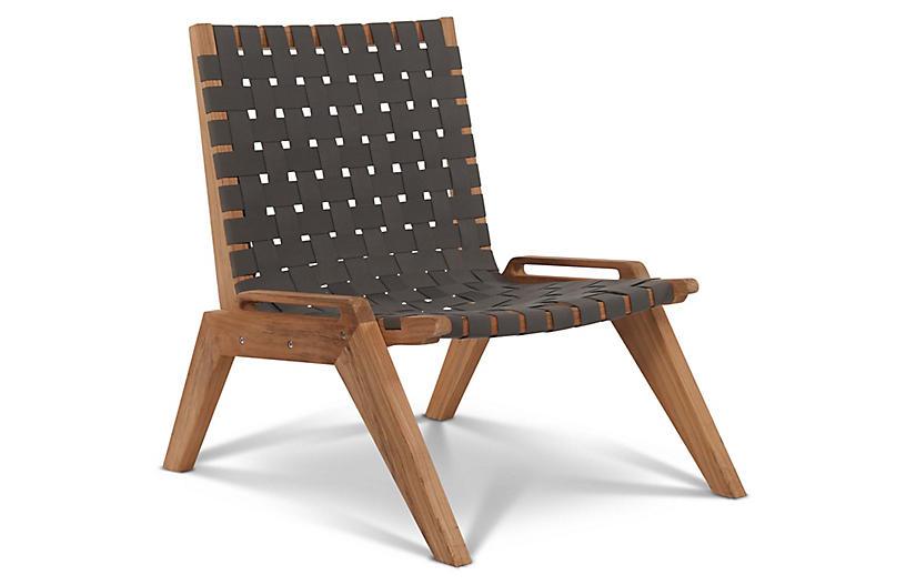Draper Accent Chair, Gray Sunbrella