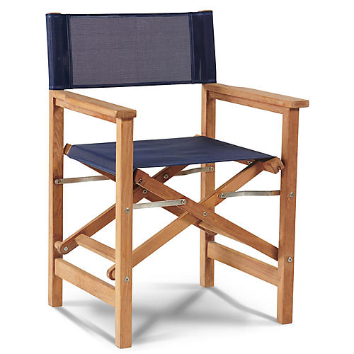Teak Director's Chair, Navy
