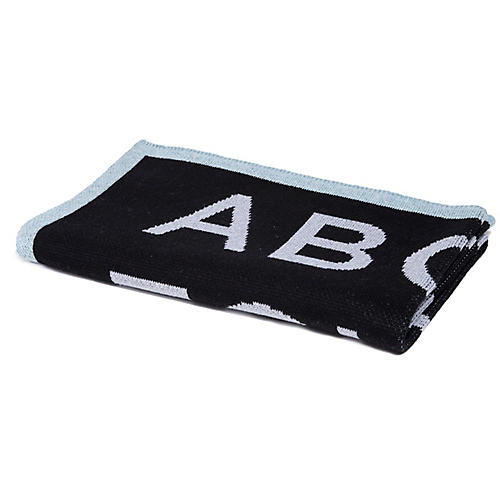 ABC Baby Blanket, Black/Blue
