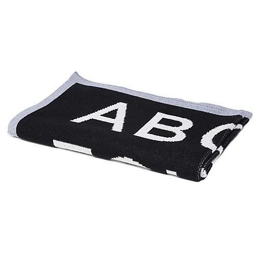 ABC Baby Blanket, Black/Gray