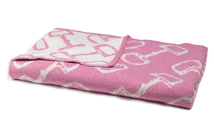 Bits Baby Blanket, Petal Pink