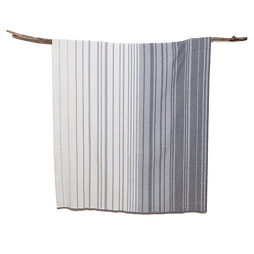 Eco-Stripe Outdoor Throw, Smoke