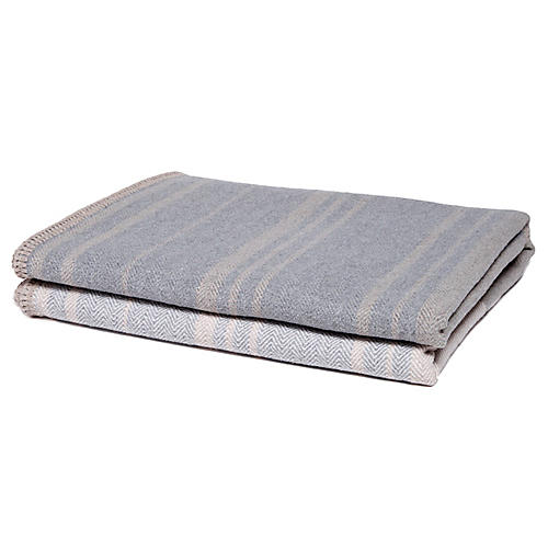 Eco-Stripe Outdoor Throw, Natural