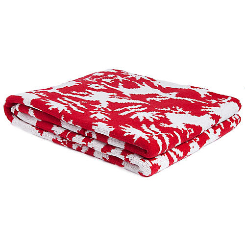 Otomi Outdoor Throw, Red