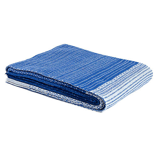 Ombré Throw, Cobalt Blue