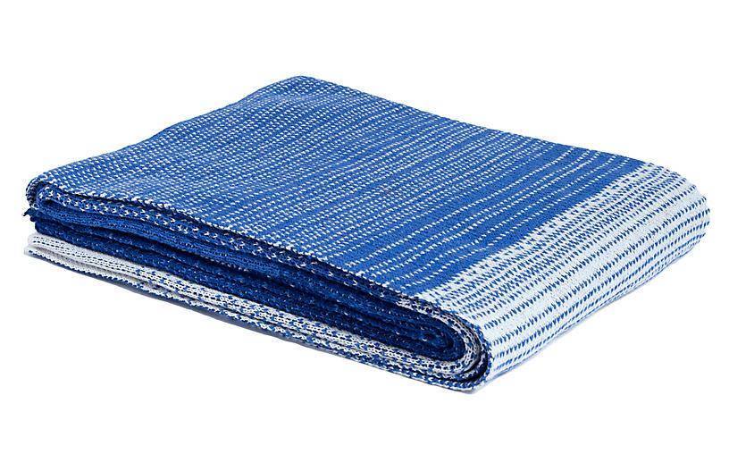 Ombré Throw, Cobalt Blue