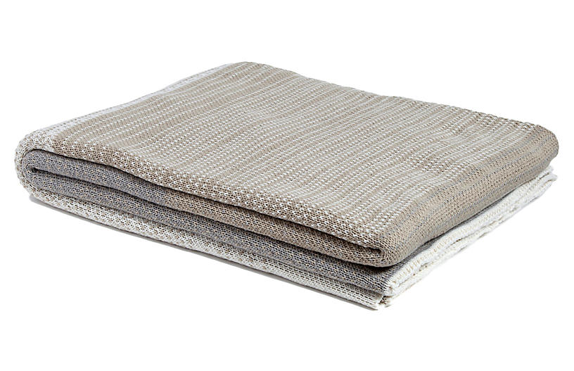 Digital Ombré Outdoor Throw, Camel