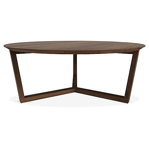 Tripod Coffee Table, Walnut