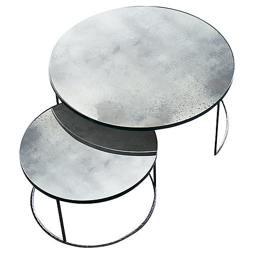 Nesting Coffee Tables, Clear