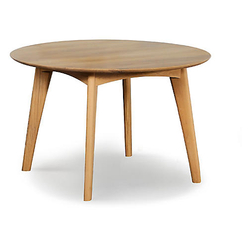 Osso Round Dining Table, Oak