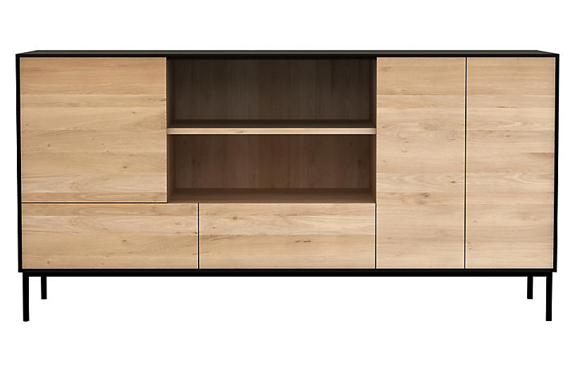 Blackbird Open Sideboard, Oak
