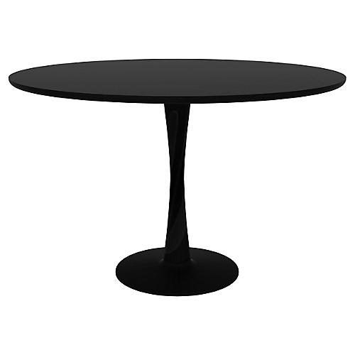 Torsion Dining Table, Black