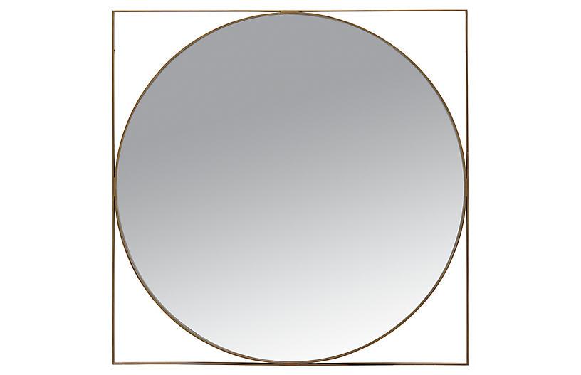 Carpenter Mirror, Brass