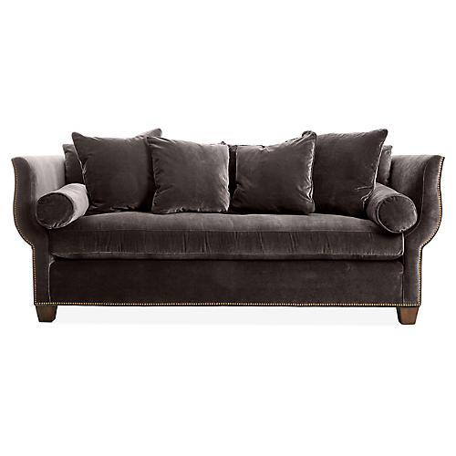 Missy Sofa, Charcoal Velvet