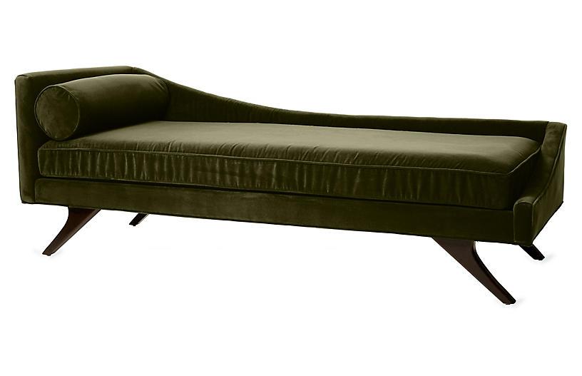Sansa Right-Arm Chaise, Moss Velvet