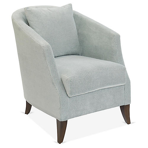 Fisher Accent Chair, Light Blue