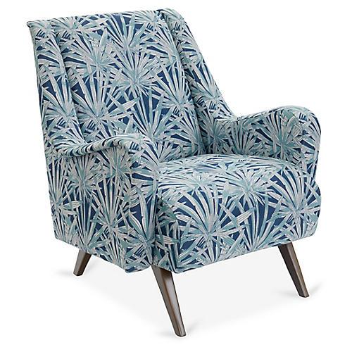 Margot Accent Chair, Laguna/White