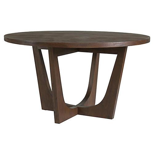 Brio Round Dining Table, Marrone