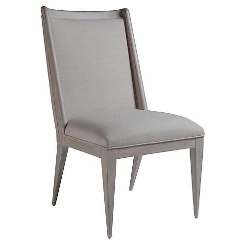 Haiku Side Chair, Greige Linen