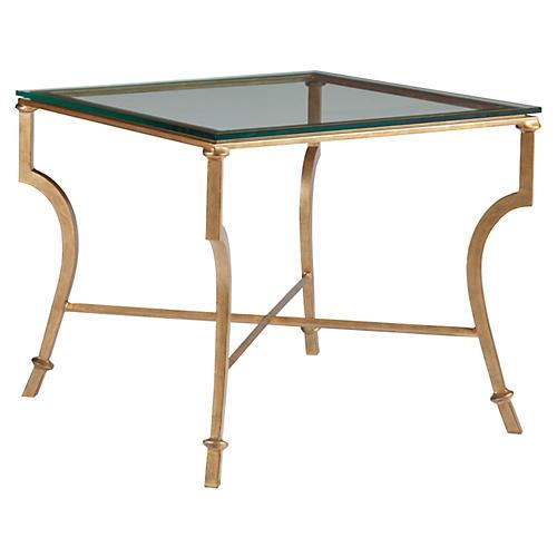 Syrah Side Table, Renaissance Gold