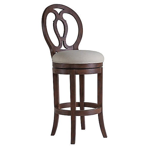Axiom Swivel Barstool, Marrone Brown