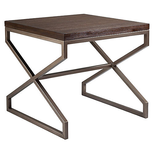 Edict Side Table, Marrone Brown