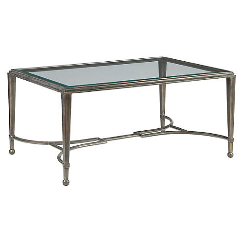 Sangiovese Coffee Table, St. Laurent Iron